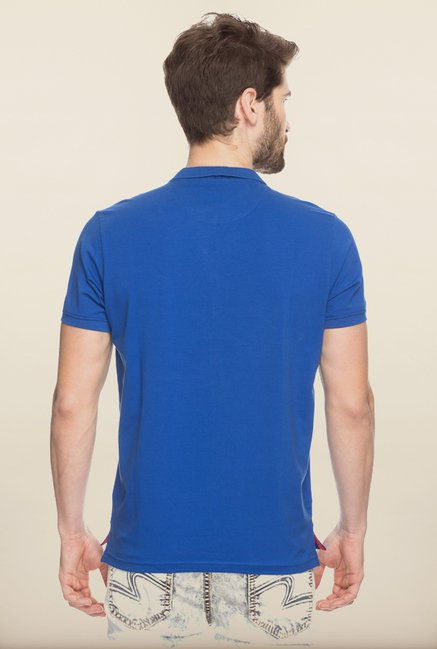 Spykar Royal Blue Polo T shirt