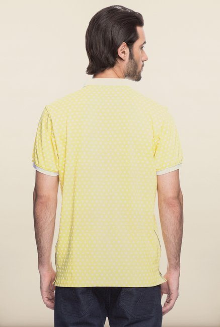 Spykar Yellow Polo T shirt