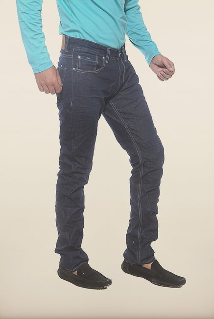Spykar Dark Blue Denim Slim Fit Jeans