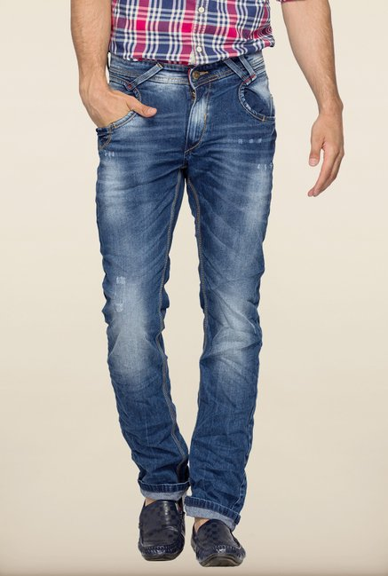Spykar Blue Skinny Fit Denim Jeans