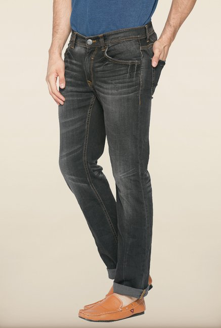Spykar Black Slim Fit Jeans