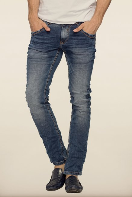 Spykar Blue Low Rise Skinny Fit Denim Jeans