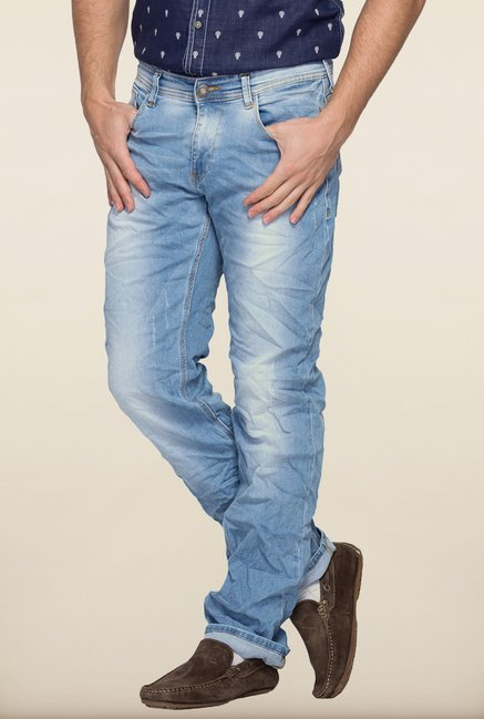 Spykar Light Blue Slim Fit Jeans