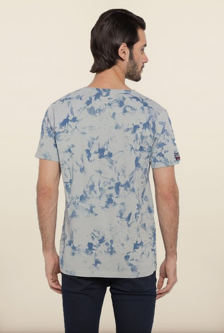 Spykar Grey Printed T shirt