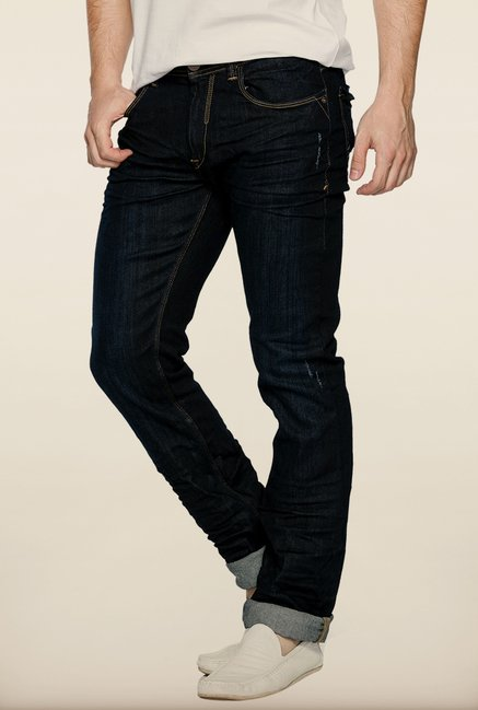Spykar Dark Blue Low Rise Slim Fit Jeans