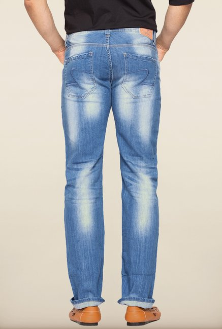 Spykar Blue Washed Slim Fit Jeans
