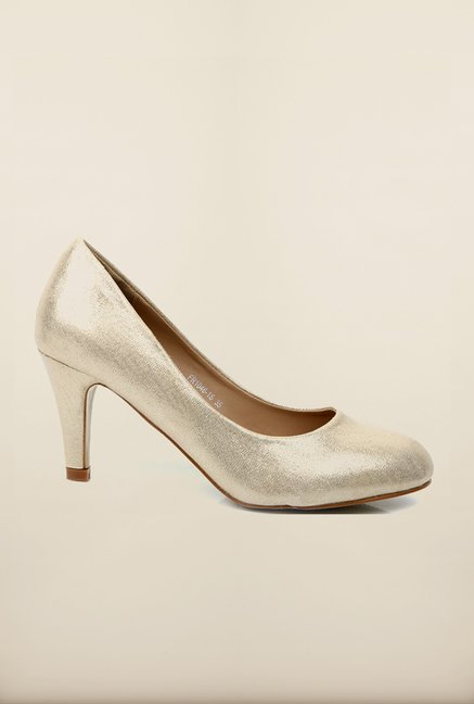 Tresmode Ceglam Gold Pump Shoes