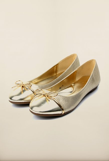 Tresmode Rewalk Gold Pump Shoes