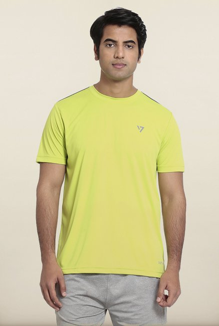 Seven Green Solid T-Shirt