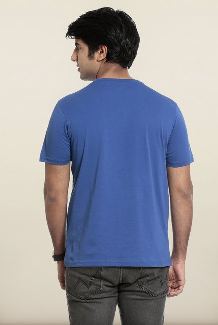 Seven Blue Printed T-Shirt