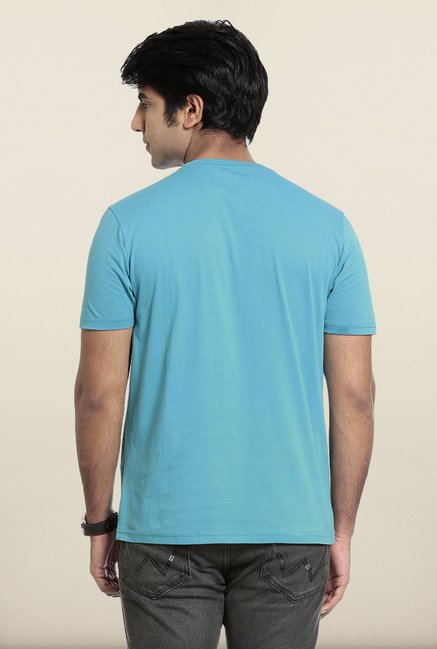 Seven Light Blue Printed T-Shirt