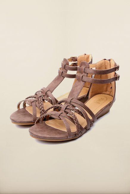Tresmode Mesan Brown Flat Sandals