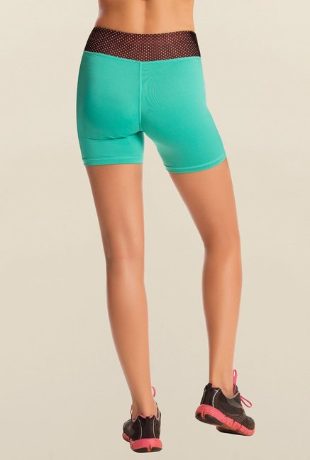 Pretty Secrets Teal Solid Workout Shorts