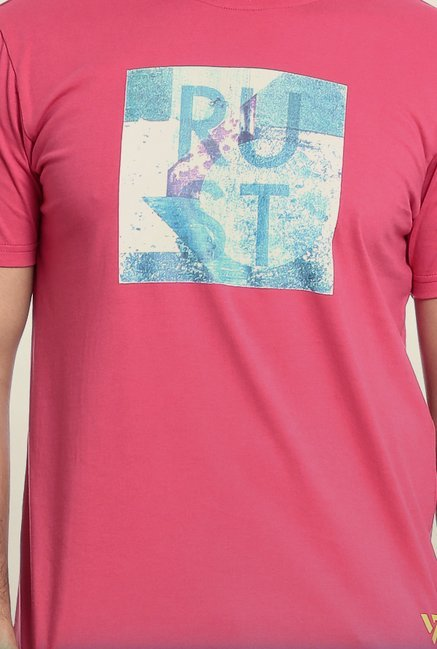 Seven Pink Printed T-Shirt