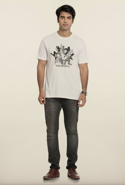 Seven White Printed T-Shirt