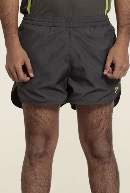 Seven Black Split Sports Shorts