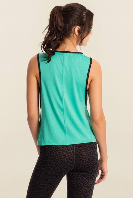 Pretty Secrets Teal Solid Workout Tank