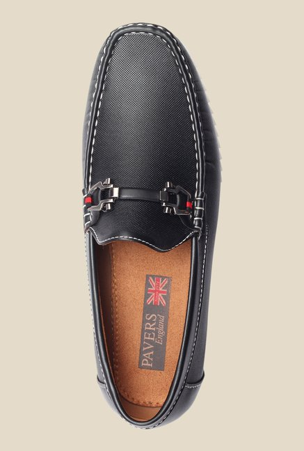Pavers England Black Casual Loafers