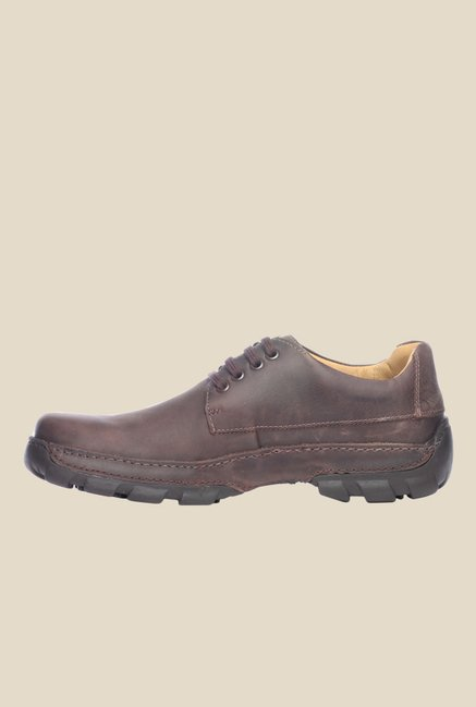 Pavers England Brown Derby Shoes