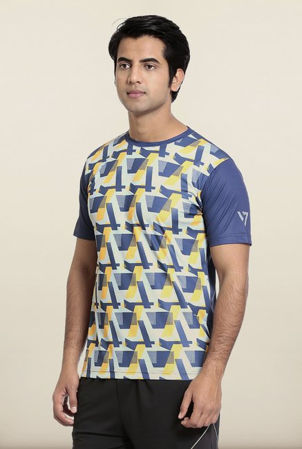 Seven Blue and Yellow Block T-Shirt