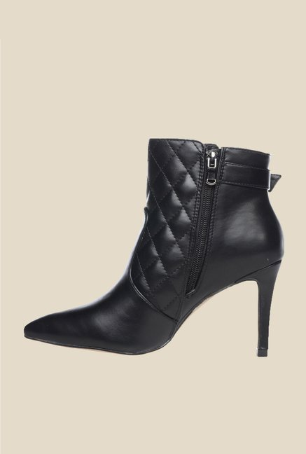 Pavers England Black Stiletto Booties