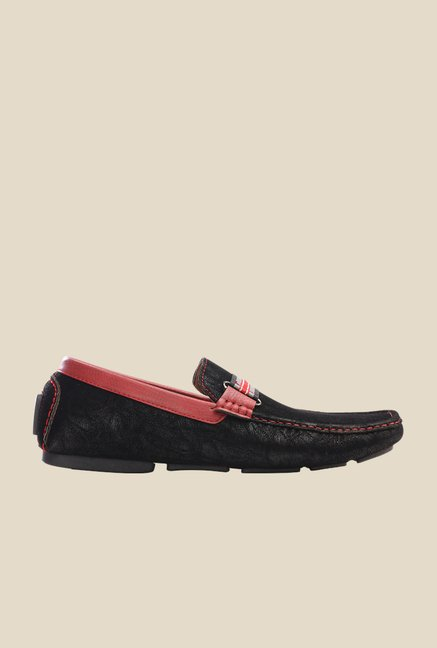 Pavers England Black & Brown Casual Loafers