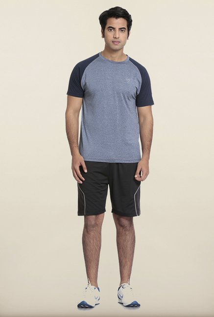 Seven Light Blue Solid T-Shirt
