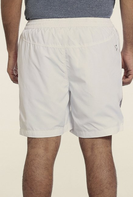 Seven White Printed Sports Shorts