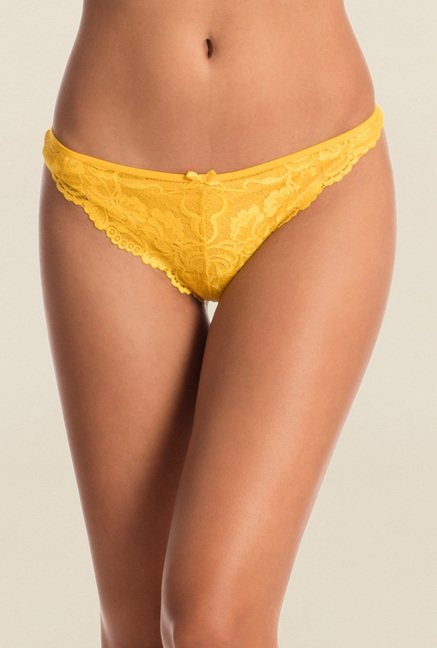 Pretty Secrets Color Crush Yellow G-string Panty