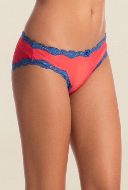 Pretty Secrets Red & Blue Color Crush Bikini Panty