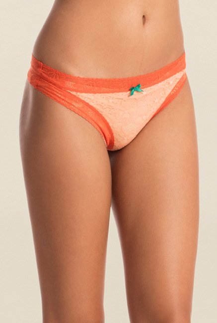 Pretty Secrets Orange & Blue Thongs (Pack of 2)
