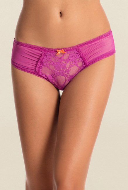 Pretty Secrets Purple & Black Hipster Panties (Pack of 2)