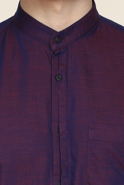 Turtle Purple Solid Casual Shirt