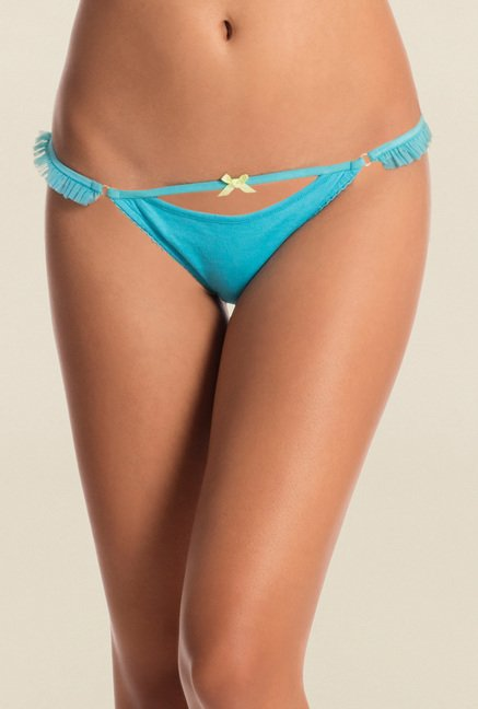 Pretty Secrets Blue & Yellow Thongs (Pack of 2)