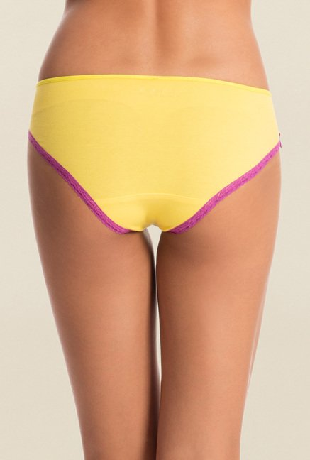 Pretty Secrets Black & Yellow Hipster Panties (Pack of 2)