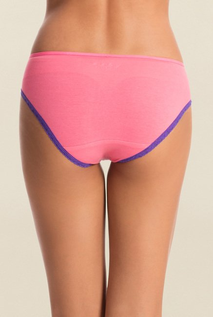 Pretty Secrets Pink & Blue Hipster Panties (Pack of 2)