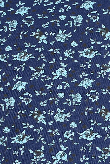 Turtle Blue Floral Print Casual Shirt