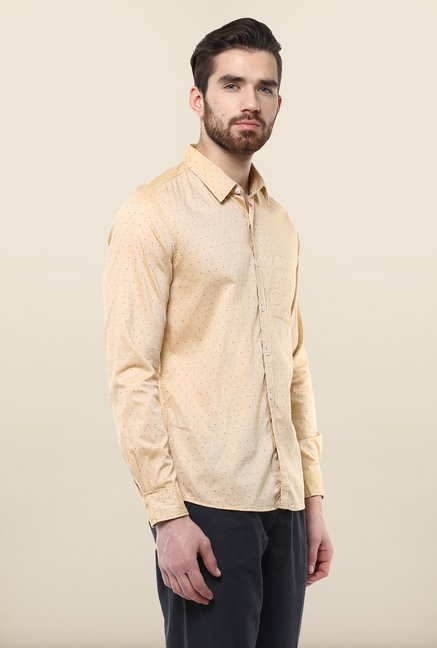 Turtle Peach Printed Casual Shirt