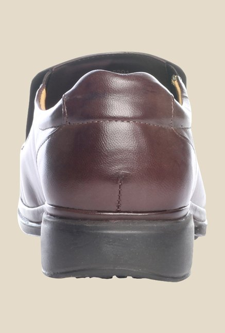 Pavers England Brown Leather Formal Shoes