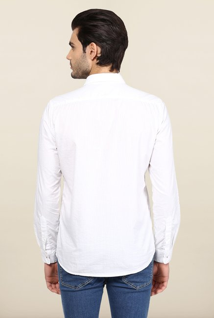 Turtle White Solid Casual Shirt
