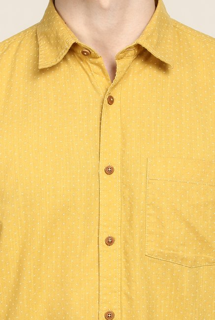Turtle Yellow Printed Casual Shirt