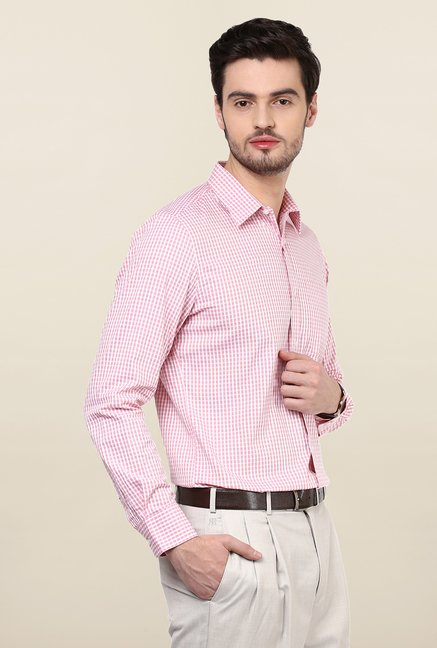 Turtle Red Checkered Formal Shirt