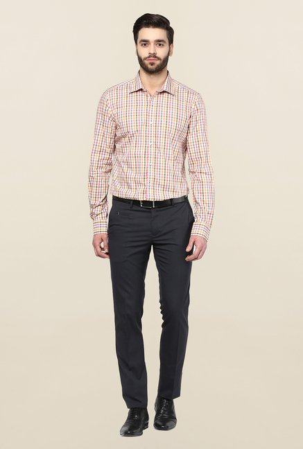 Turtle Multicolor Checkered Slim Fit Formal Shirt