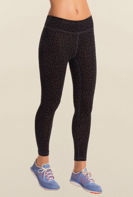 Pretty Secrets Black Animal Print Workout Leggings