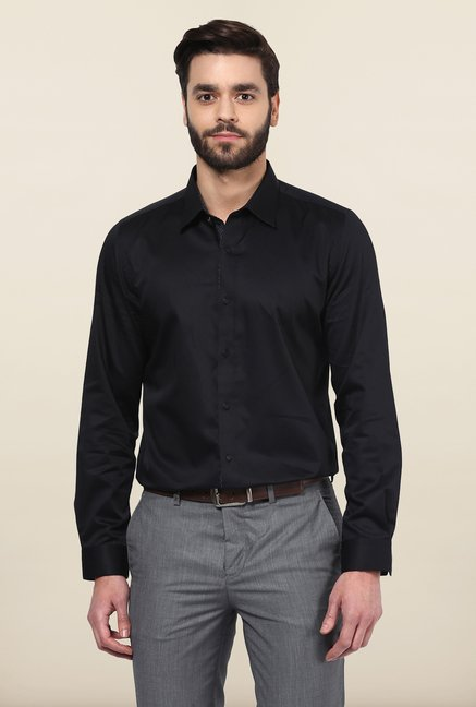 Turtle Black Solid Party Shirt