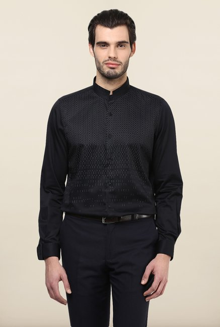 Turtle Black Printed Party Shirt