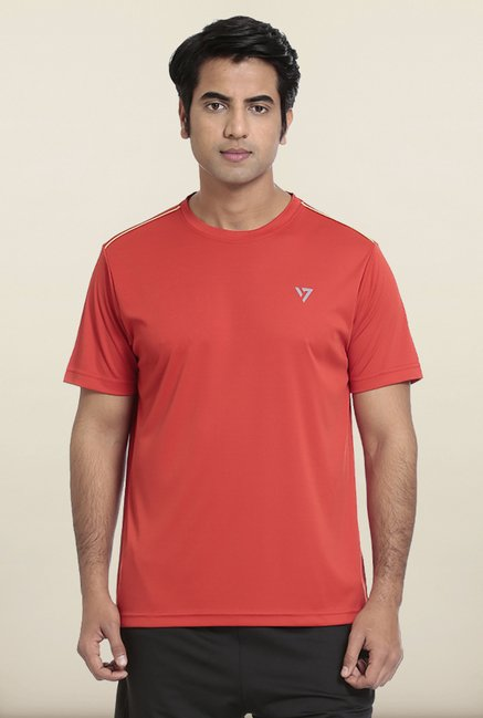 Seven Red Solid T-Shirt