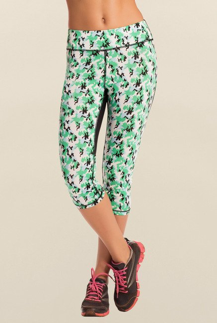 Pretty Secrets Green Camouflage Cropped Leggings