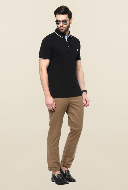 Turtle Khaki Solid Casual Trouser