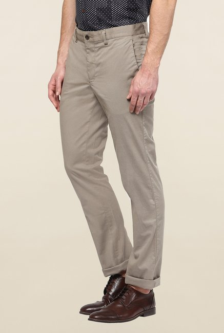 Turtle Grey Printed Casual Trouser